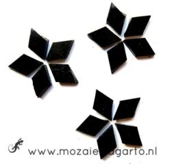 Wybertjes/Ruitjes 10x17 mm per 40 Zwart 026-1