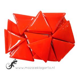 Glasmozaiek Driehoek 29 mm per 100 gram Rood 107