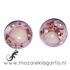Decoratiesteen kunsthars Strand 20 mm per 2 Lila 53083
