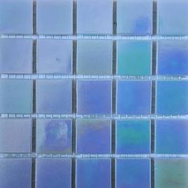 Blauw Parelmoer 2 x 2 cm per 25 tegels