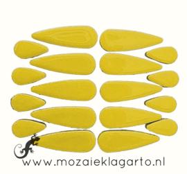 Keramiek druppel 2 maten 50 gram Geel 071