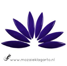 Keramiek bloemblaadjes Groot per 8 Donkerblauw 019