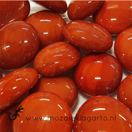 Glas Nugget 17-22 mm Opaal 50 gram Rood 4469