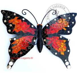Mozaiekpakket 40 Vlinder Papillon Rood-Oranje-Geel