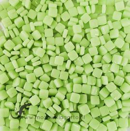Mozaïek tegeltjes glas 8 x 8 mm Opaal per 50 gram Mintgroen 003