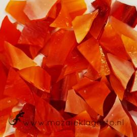 Gekleurde glasscherven Wispy Rood/Oranje/Wit  W027w
