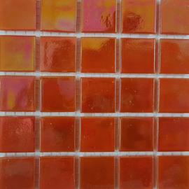 Oranje Parelmoer 2 x 2 cm per 25 tegels