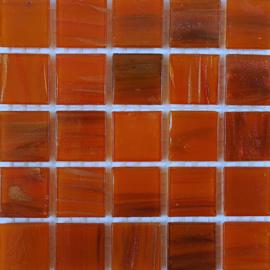 Goudader glastegels Oranje per 25 tegels 093