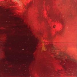 Spiegel gekleurd 5x15 cm Rood 001