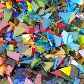 Gekleurde glasscherven 200 gram Transparante Mix 013