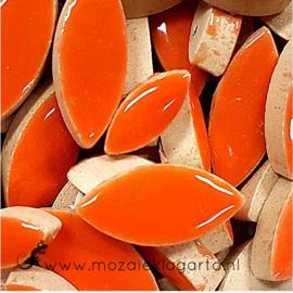 Keramiek bloembaadjes 2 maten per 50 gram Oranje 104