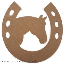 Ondergrond voor mozaiek  MDF Paard met hoefijzer 1076