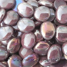 Glas Nugget 17-22 mm Opaal Iriserend 50 gram Paars 4477