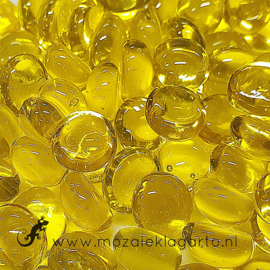 Glas Nuggets Mini  9-13 mmTransparant 50 gram Geel 4366