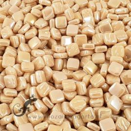 Mozaiek tegeltjes glas 8 x 8 mm Parelmoer per 50 gram Crème 093