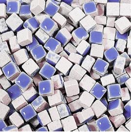 Mini Keramiek tegeltjes 5x5 mm per 15 gram Blauw 191