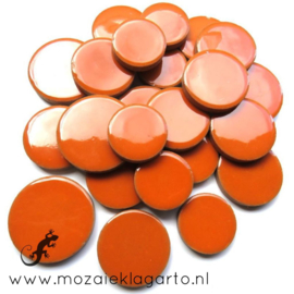 Keramiek Cirkel  3 maten Bordeaux Oranje 006