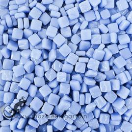 Mozaïek tegeltjes glas 8 x 8 mm Opaal per 50 gram Paarsblauw 062