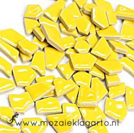 Keramiek Puzzelstukjes per 100 gram Geel 071