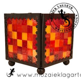 Mozaiekpakket 10 Waxinelichthouder Carré Rood