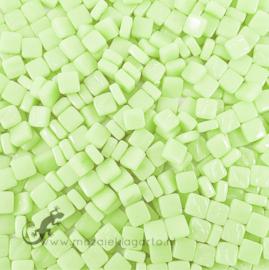 Mozaïek tegeltjes glas 8 x 8 mm Opaal per 50 gram Pastel Groen 001