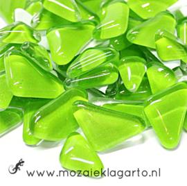Mozaiek puzzelstukjes Soft Glas 100 gram Lichtgroen 140