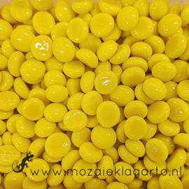 Glas Nugget Mini 9-13 mm Opaal 50 gram Geel 4384