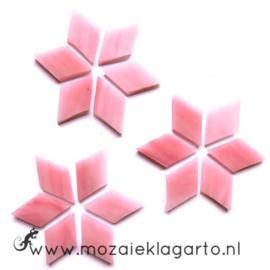 Wybertjes/Ruitjes 15x25 mm per 20 Roze 043-2