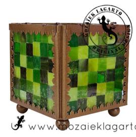 Mozaiekpakket 10 Waxinelichthouder Carré Groen