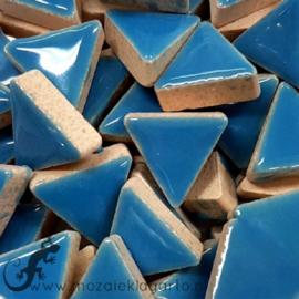 Geglazuurde keramiek driehoekjes 15 mm per 50 gram Aqua 171