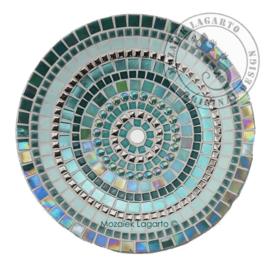 Mozaiekpakket 3 Schaal Cameleon Zeegroen/Zilver
