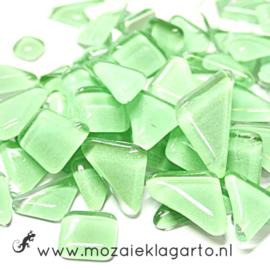 Mozaiek puzzelstukjes Soft Glas 100 gram Pistachegroen 074