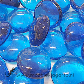 Glas Nugget 17-22 mm Transparant 50 gram Blauw 4402