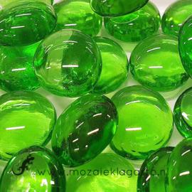 Glas Nugget 17-22 mm Transparant 50 gram Groen 4401