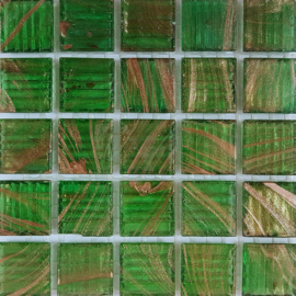 Goudader glastegels Absint Groen per 25 tegels 240