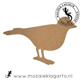 Ondergrond voor mozaiek MDF Vogeltje 039