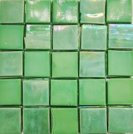Glastegels 15 mm  Groen Opaal per 25 tegels 132-15