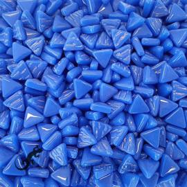 Glasmozaiek Driehoekjes 10 mm per 50 gram Briljant Blauw 069