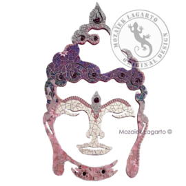 Mozaiekpakket 23 Boeddha 60 cm Roze/Paars