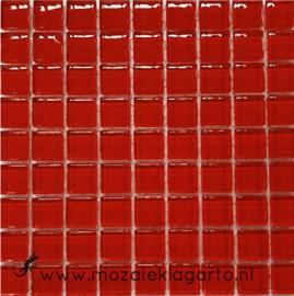 Glastegeltje Murrini  Donkerrood per 81 tegeltjes 026