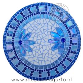 Mozaiekpakket 9 Schaal Corso Blauw/Wit