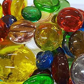 Glas Nugget 9-22 mm Mix 250 gram Transparant 910