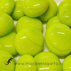 Glas Nugget 17-22 mm Opaal 50 gram Limoen 4465
