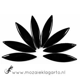 Keramiek bloemblaadjes Groot per 8 Zwart 001