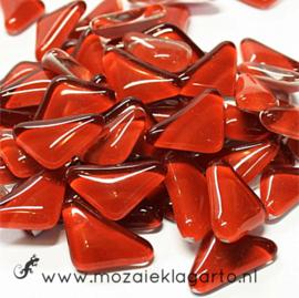 Mozaiek puzzelstukjes Soft Glas 100 gram Donkerrood 038
