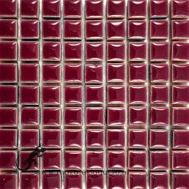 Keramiek tegel 10x10 mm per 81 Bordeaux 047