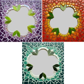 Mozaiekpakket 50 Spiegel Fleur 3 kleuren