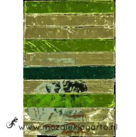 Tiffany Spiegelglas reepjes 1x6.5 cm per 10 Groen 006