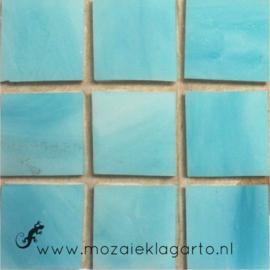 Tiffany glastegels 2x2 cm per 25 Aqua 059