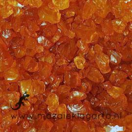 Glas Brokjes/Split  Amber ca  250 gram 41511